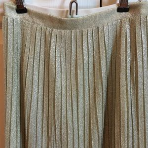 Urban Outfitters Skirts - Urban Outfitters Pleated Gold Midi Skirt, Size XS
